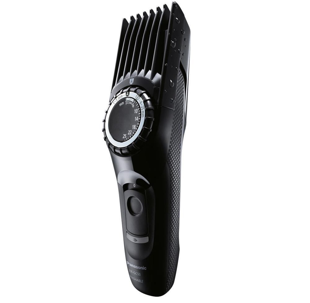 Πλενόμενη κουρευτική μηχανή ERGC50K503 της Panasonic με εργονομικό  καμπυλωτό σχεδιασμό για να κουρεύεις τα μαλλιά σου σε διαφορετικά στιλ  ανάλογα με τις ... 69a2dd0ae98